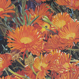 Orange Flowers by Bert Ernie