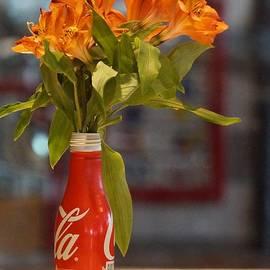 Orange Glow Centerpiece by Maxine Billings
