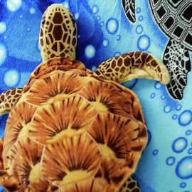 Orange Sea Turtle Plush Toy 2 by Scott Johnson