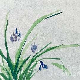 Orchid Chinese Brush Painting  by Lavender Liu
