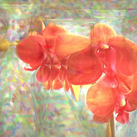 Orchids and Vases Impresionism by Joyce Dickens