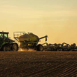 Organic Wheat Seeding by Todd Klassy