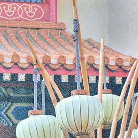 Oriental Influence Digital Paint by Diann Fisher