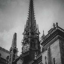 Ornate Details of Spire on Notre Dame, Paris 2016 by Liesl Walsh