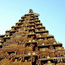 Ornate gopuram pagoda tower sculpture gods at Nallur Kandaswamy Kovil  Hindu temple Jaffna Sri Lanka by Imran Ahmed