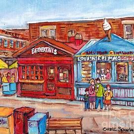 Ottawa Byward Market Beavertails Pastries Sweets Lois N Frima's Ice Cream Lester Hot Dogs C Spandau by Carole Spandau