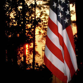 Our Flag At Sunrise by Angelcia Wright