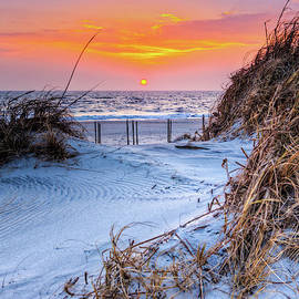 Outer Banks Sunrise Over the Sand Dunes by Dan Carmichael