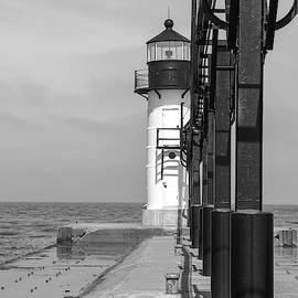 Outer Lighthouse B/W by Mary Anne Delgado