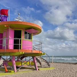 Outta This World - South Beach Lifeguard Station by Chrystyne Novack