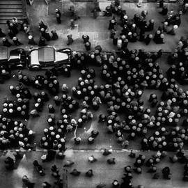 Overhead View Of Men Relaxing On 36th St by Margaret Bourke-white