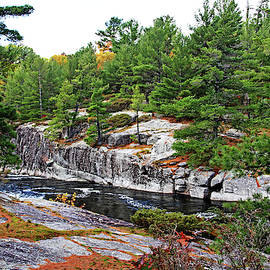 Overlooking The French River by Debbie Oppermann