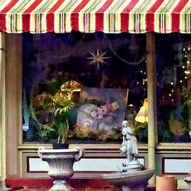 Owego Ny - Gift Shop With Striped Awning by Susan Savad