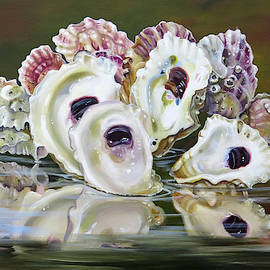 Oysters In The Low Tide by Phyllis Beiser