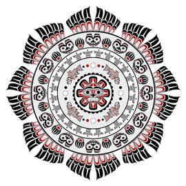 Pacific Northwest Native American Art Mandala by Debi Dalio