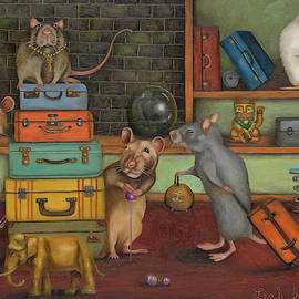 Pack Rat's by Leah Saulnier The Painting Maniac