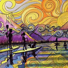 Paddleboarders Frisco Colorado by David Sockrider