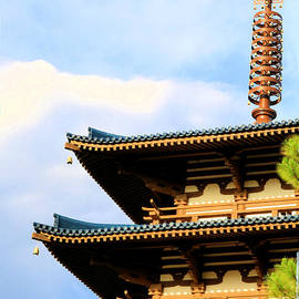 Pagoda Zen Art by Diann Fisher