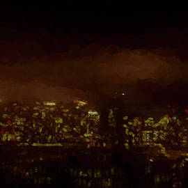 Painted City Scape by Bill Posner