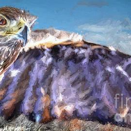 Painted Colorado Hawk by Janice Pariza