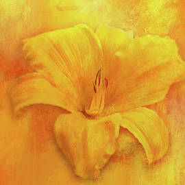 Painted Day Lily by Terry Davis