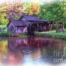 Painterly Mabry Mill by Norma Brandsberg