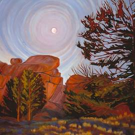 Pale Moon Over Vedauwoo by Art West