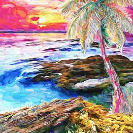 Palm end sunset by Nenad Vasic