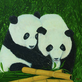 Panda Bears and Bamboo by Aicy Karbstein