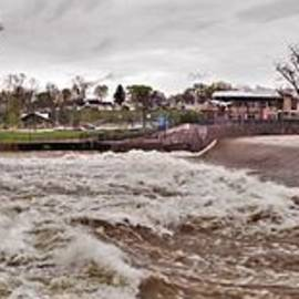 Panorama      Waterfall and St. Joseph River       Spring         Indiana by Rory Cubel