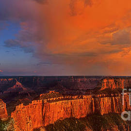 Panorama Clearing Storm North Rim Grand Canyon Nationa by Dave Welling