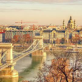 Panorama of Budapest Chain Bridge by Stefano Senise