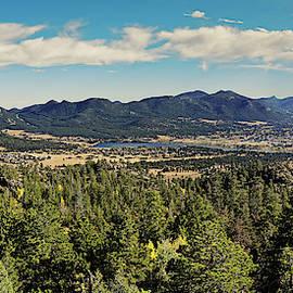 Panorama of Estes Park and Rocky Mountains National Park from Gem Lake - Laramie County Colorado by Silvio Ligutti