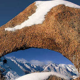 Panoramic Arch Winter Eastern Sierras Alabama Hills Caifornia by Dave Welling