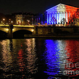Paris Evening Reflections on the Seine River by Wayne Moran