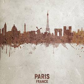 Michael Tompsett - Paris France Rust Skyline