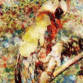 Parrot and Branch by Mario Carini