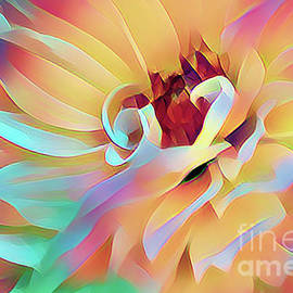 Party Time Dahlia Abstract by Anita Pollak