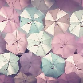 Pastel Umbrellas by Carol Japp