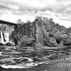 Paterson Great Falls National Park in Black and White by Regina Geoghan