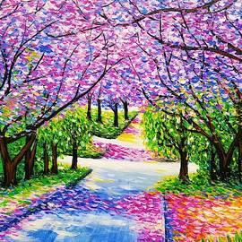 Path of Jacaranda Trees #3 by Jessica T Hamilton