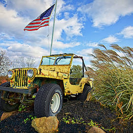 Patriotic Jeep Willys by Marcia Colelli