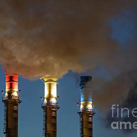Patriotic Smokestacks by Jim West