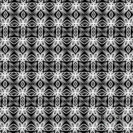 Pattern in Black and White by Kaye Menner