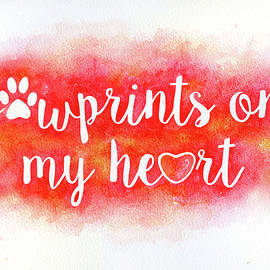 Pawprints On My Heart - Watercolor Painting by Susan Porter