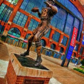 Payton Manning Lucas Oil Stadium - Indianapolis, In by Blake Richards