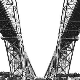 Peace Bridge on lake Erie, Buffalo, New York, 2007 by Jeff Giniewicz