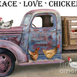 Peace Love Chickens by Sarah Batalka