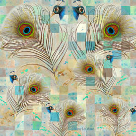 Peacock Fascination Feathers and Faces by Nancy Lee Moran