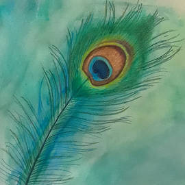 Peacock Feather #2 by Jennie Hallbrown
